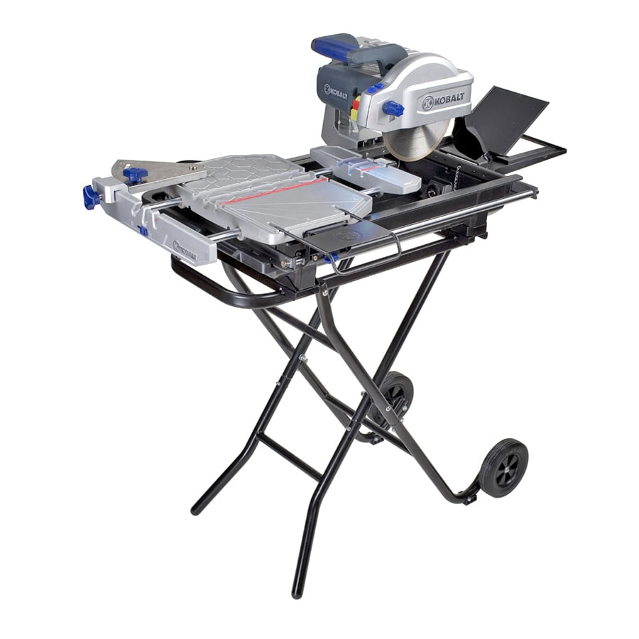 kobalt 8 in slide tile saw with stand
