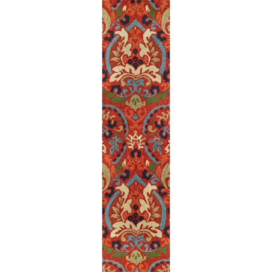 Allen Roth Bredina 2 X 8 Pembroke Deep Red Multi Indoor   Lowes Carpet Runners By The Foot   Persian Carpet   Beige Carpet   Heriz Rug   Kilim Rugs   Stairs
