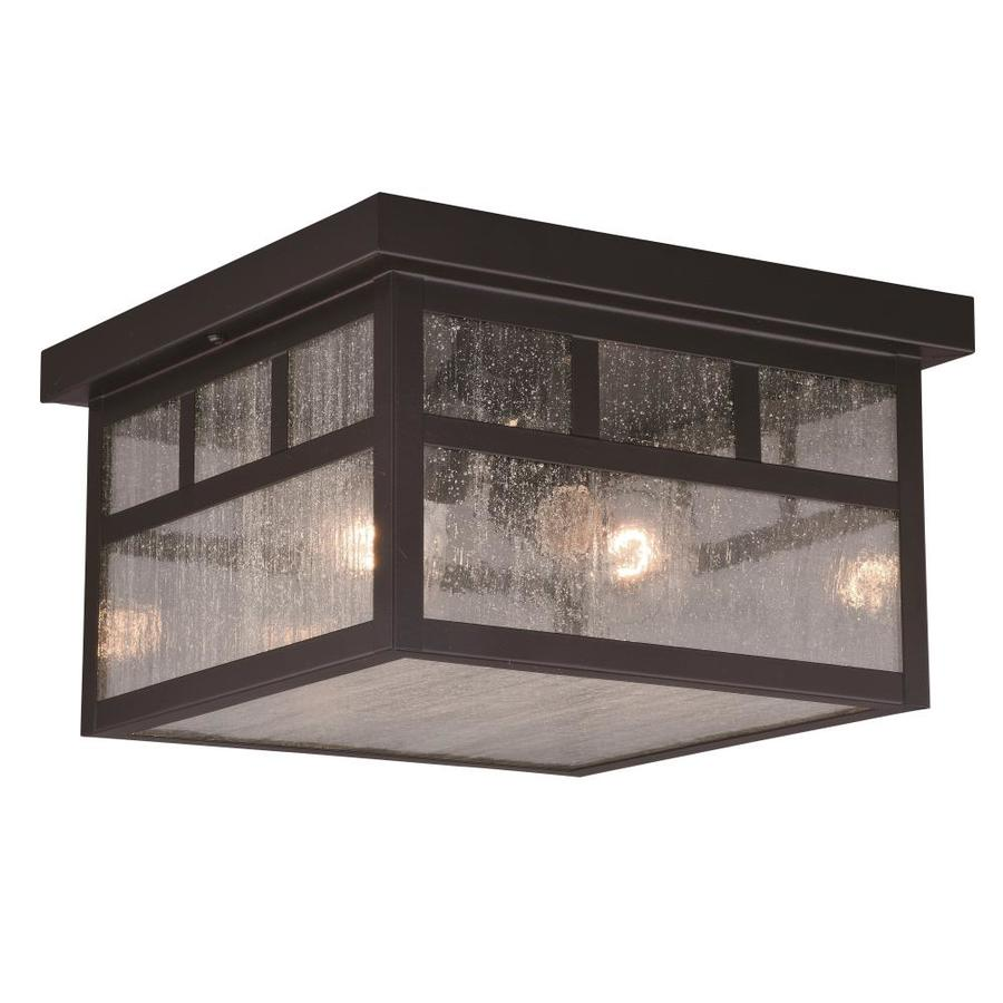 cascadia mission 11 5 in w oil burnished bronze outdoor flush mount light