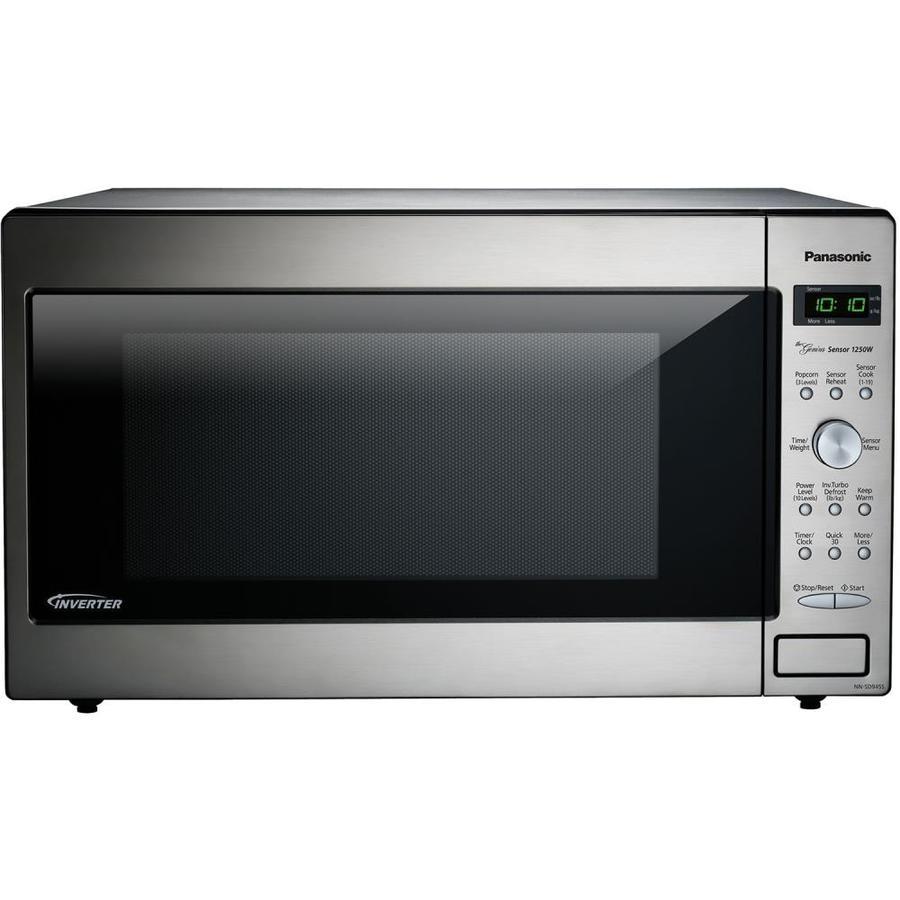panasonic 2 2 cu ft 1250 watt countertop microwave stainless steel