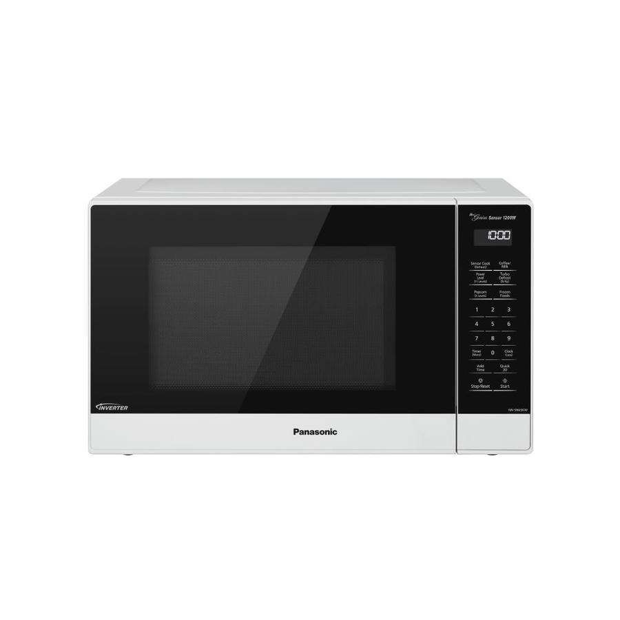 panasonic 1 2 cu ft 1200 watt countertop microwave white