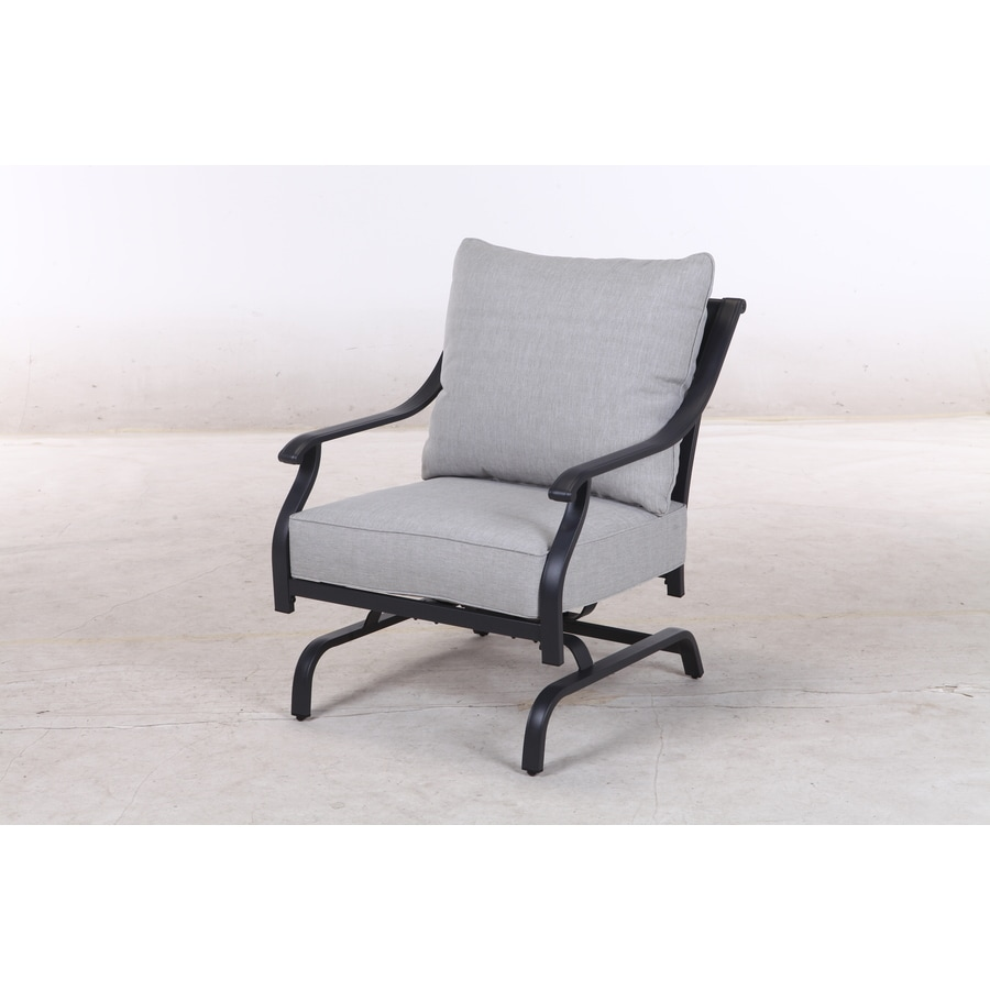 Style Selections Elliot Creek Set Of  Metal Conversation Chairs With Gray Olefin Cushioned Seat