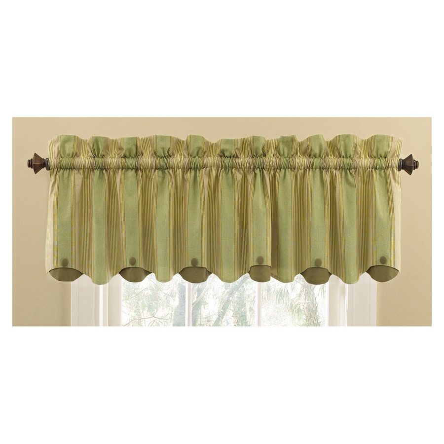 Shop Waverly Home Classics 15 In Sage Cotton Rod Pocket Valance At