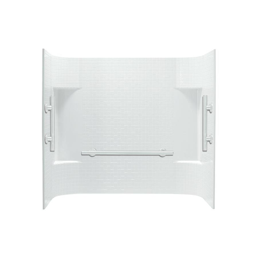 Shop Sterling Accord White Vikrell Bathtub Wall Surround Common 60 In X 32 In Actual 5625
