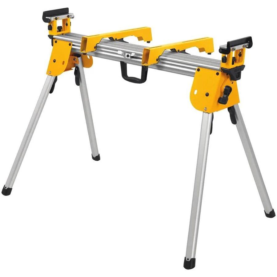 Dewalt Aluminum Adjustable Miter Saw Stand At Lowes Com