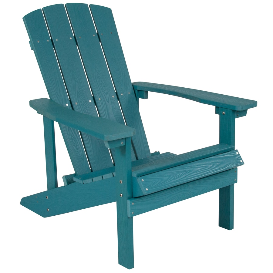 flash furniture charlestown green wood frame stationary adirondack chair s with sea foam solid seat