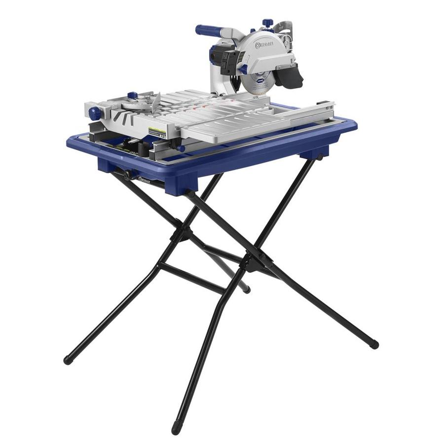 kobalt 7 in wet tabletop sliding table tile saw with stand lowes com