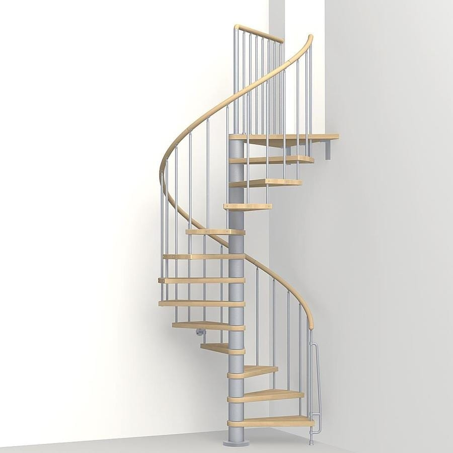 Shop Arke Phoenix 47 In X 10 Ft Gray Spiral Staircase Kit | Spiral Staircase 10 Feet