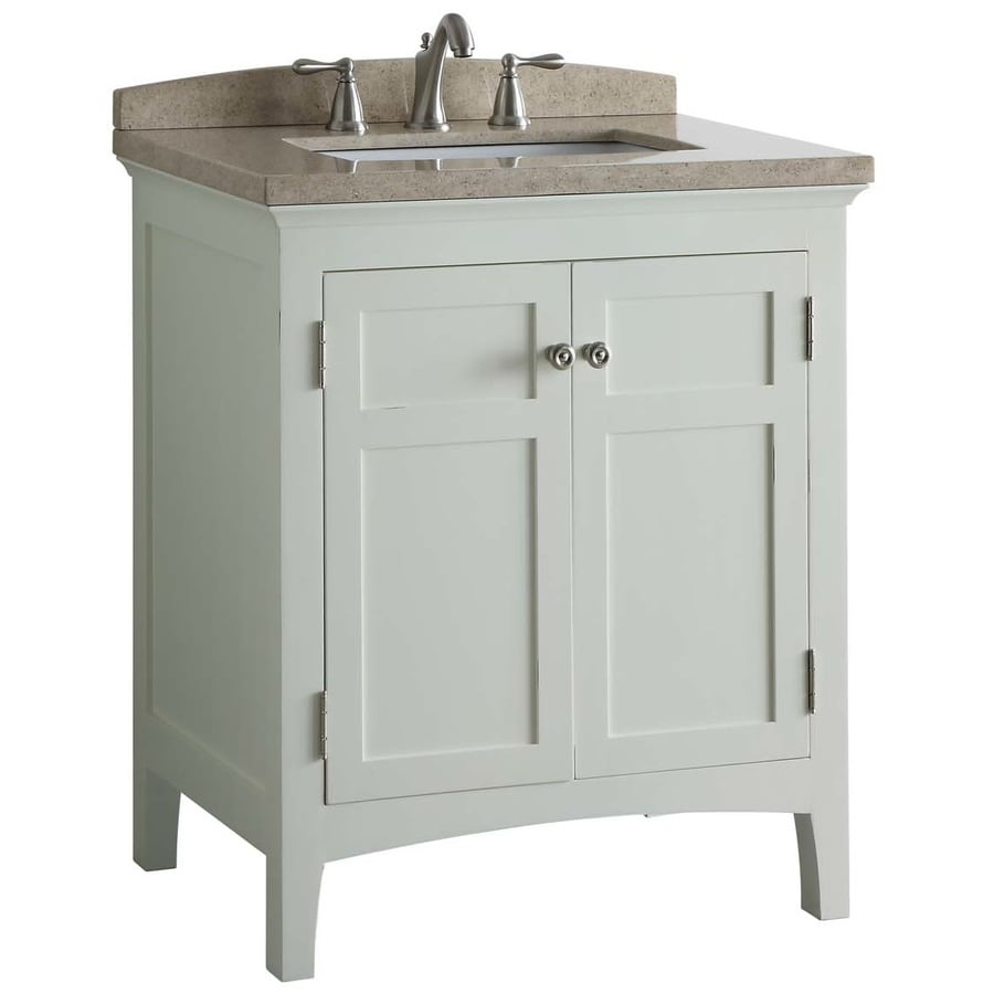 allen roth norbury white vanity with light yellow engineered stone top common 30 in x 22 in