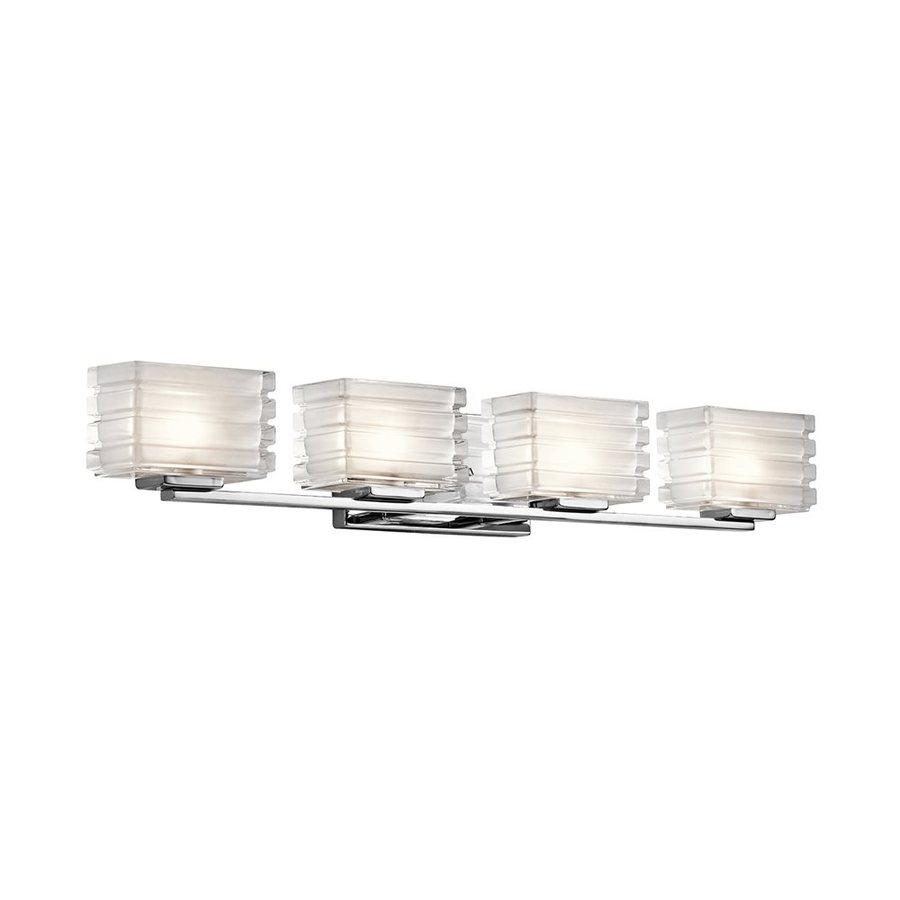 Shop Kichler Lighting 4-Light Bazely Chrome Modern Vanity ...