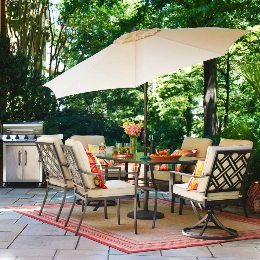 style selections glenn hill 7 piece patio dining set