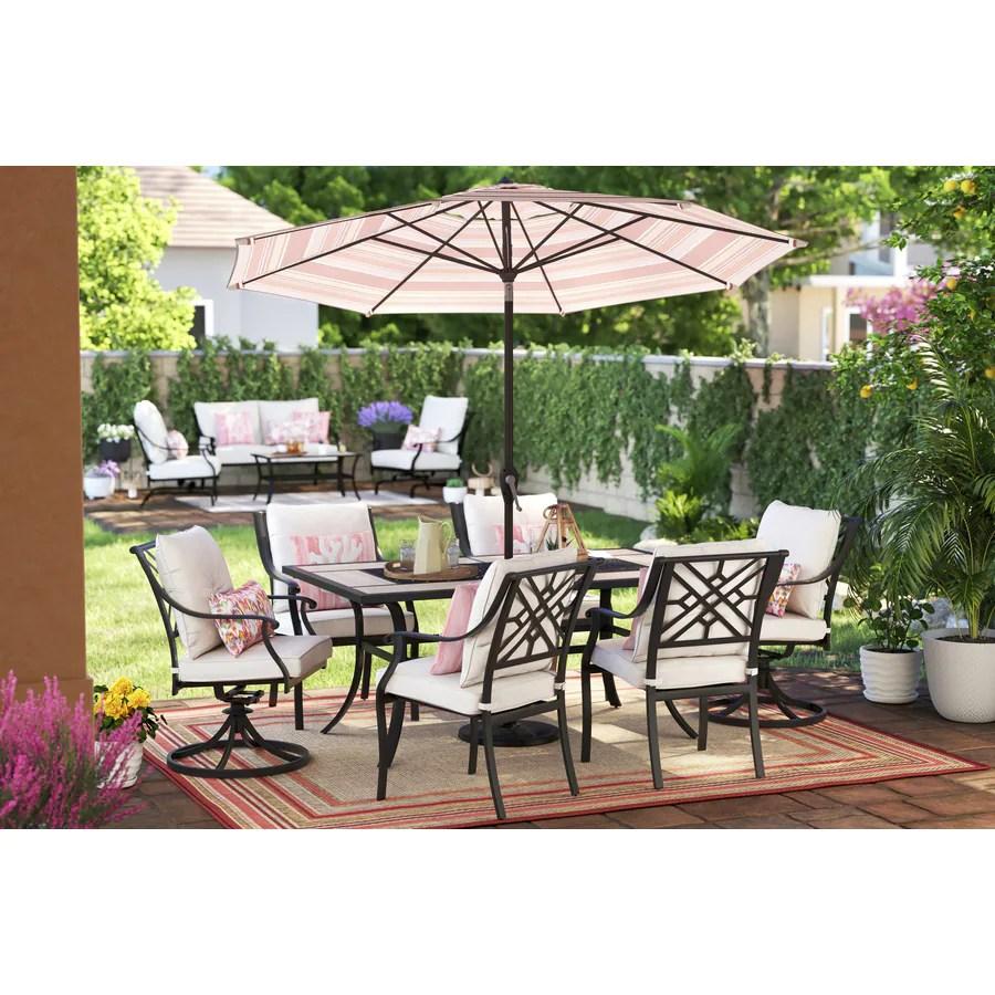 style selections elliot creek 7 piece patio dining set