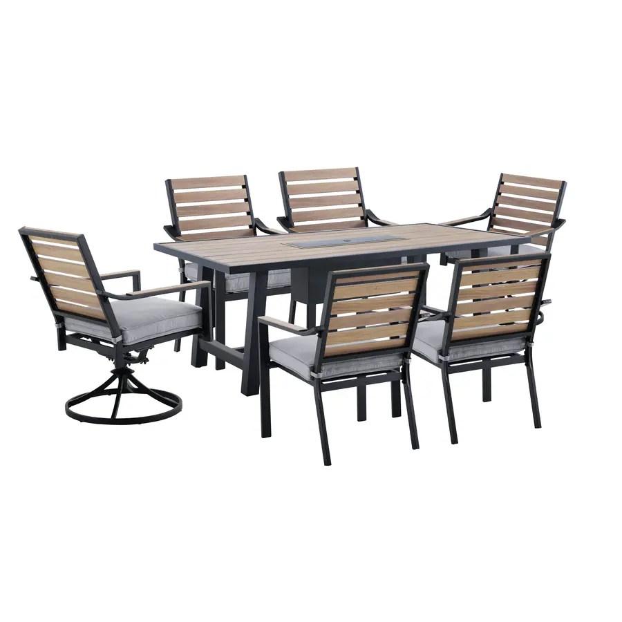 allen roth fairway oaks 7 piece patio dining set
