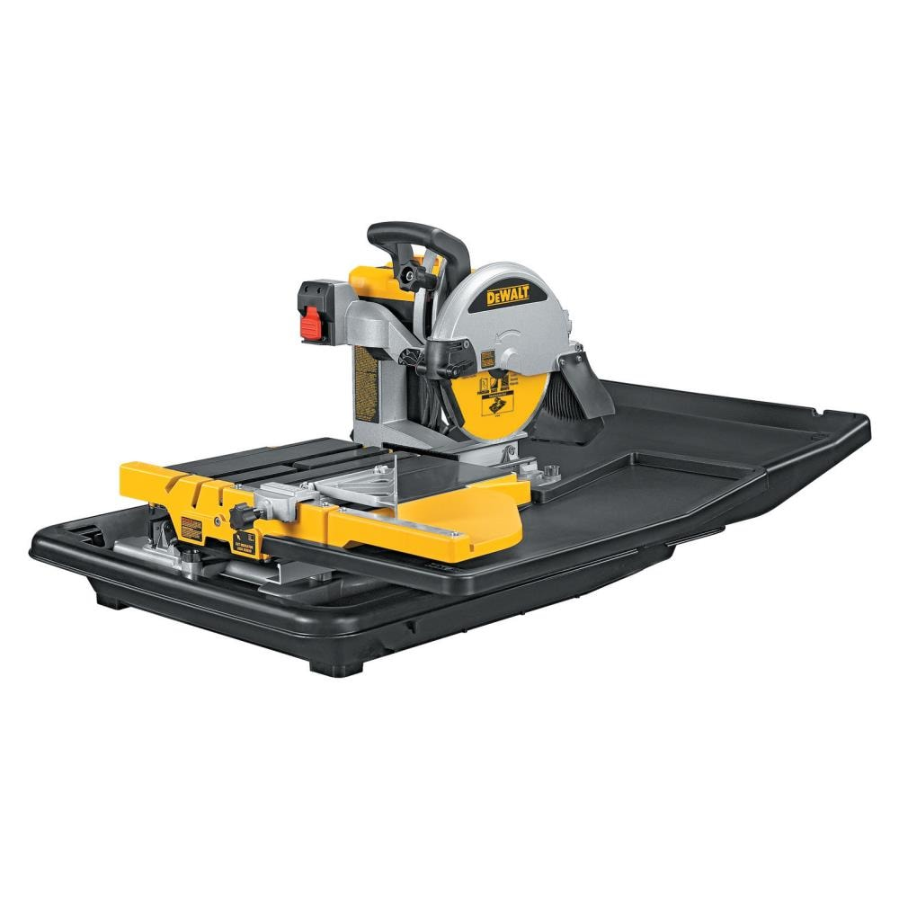 With the tool rental program all your jobs can get done and done right the first time because you have access to the right tools. Dewalt 10 In 15 Amp Wet Tabletop Sliding Table Tile Saw In The Tile Saws Department At Lowes Com