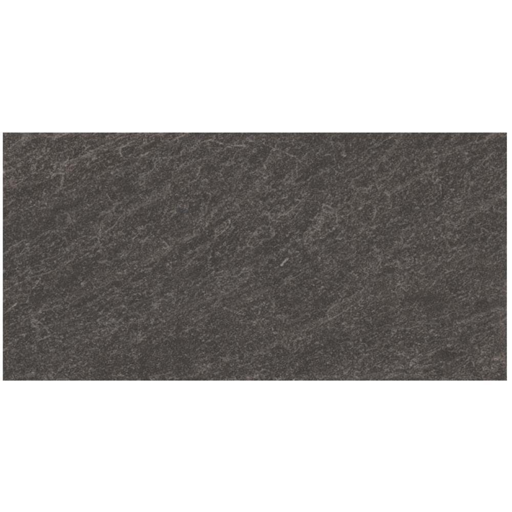 style selections galvano charcoal 12 in x 24 in glazed porcelain granite stone look floor and wall tile