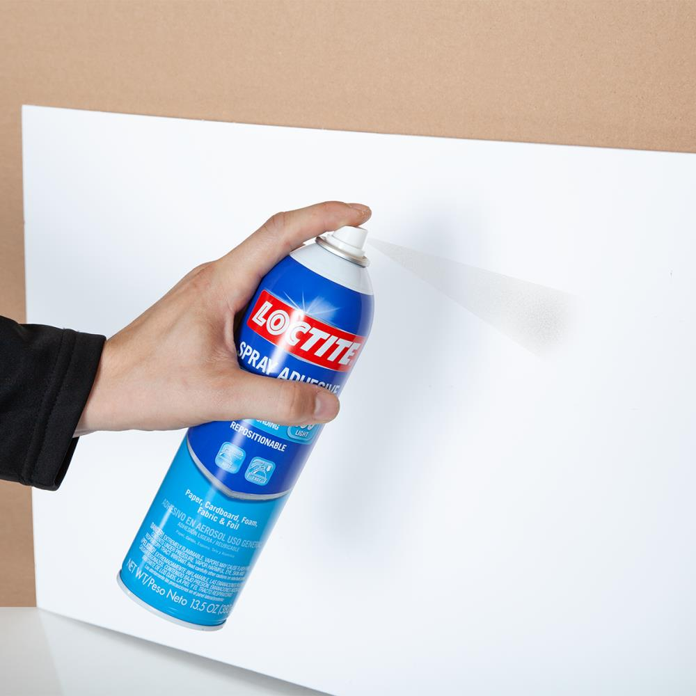3M Hi-Strength 90 Spray Adhesive Permanent Bonds Laminate Wood Concrete Metal Plastic Clear Glue Net Wt 176 oz Will Spray Upside Down 45 out of 5 stars 1422 2 offers from 3438. Loctite General Performance Spray Adhesive 13 5 Oz Spray Adhesive In The Spray Adhesive Department At Lowes Com
