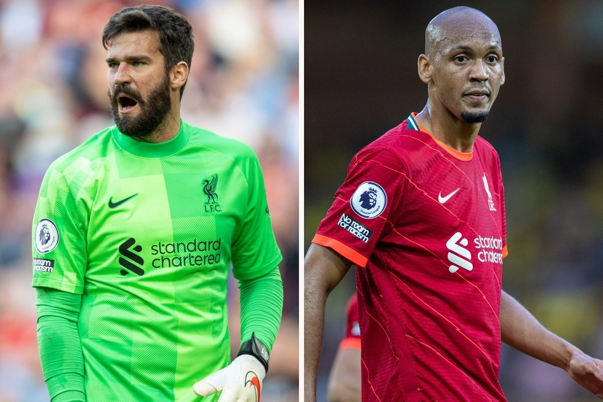 Liverpool BARRED from selecting Alisson and Fabinho vs