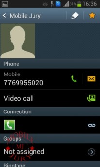Contact details- Samsung Galaxy Grand Duos