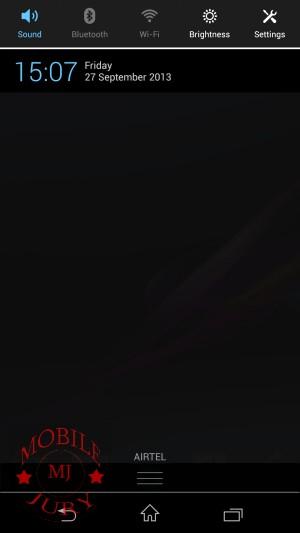 Notification panel- Sony Xperia Z1