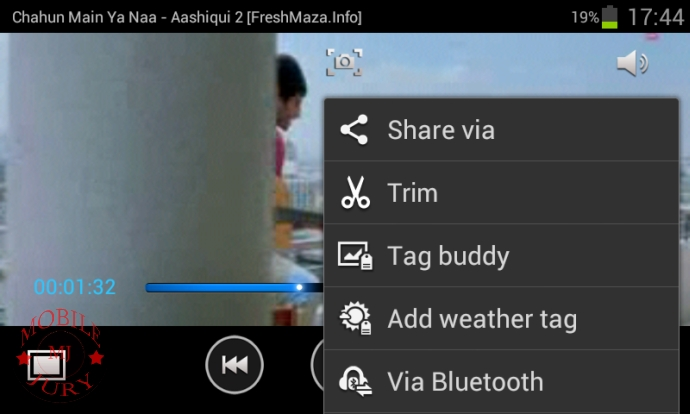 Video player options (2)- Samsung Galaxy Grand Duos