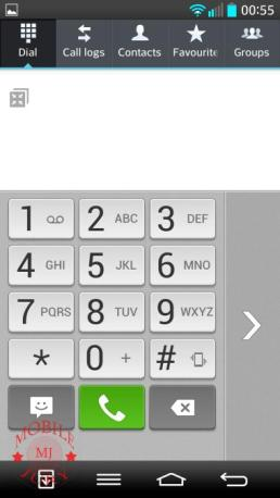 dialpad single handed operation_LG G2