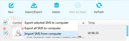 Exporting SMS