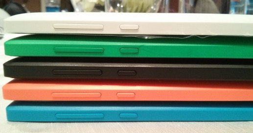 A Stack of Nokia XL in different colors