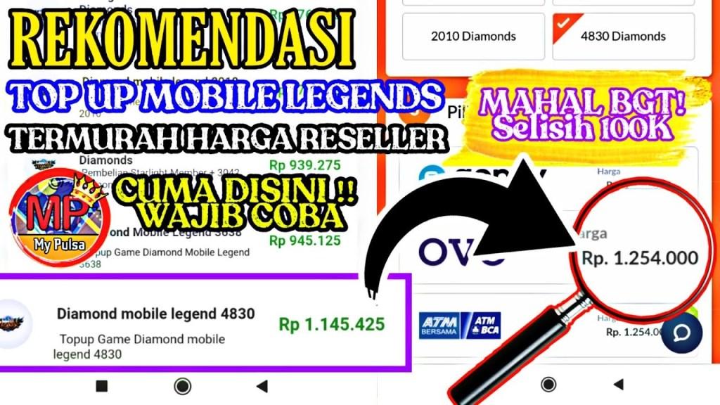 REKOMENDASI !! TOP UP DIAMOND MOBILE LEGENDS TERMURAH HARGA RESELLER | My Pulsa