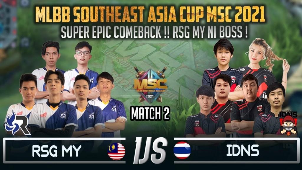 Satu Malaysia Bersorak Tengok RSG MY Comeback !! Match 2 RSG MY VS IDNS Mobile Legends: Bang Bang
