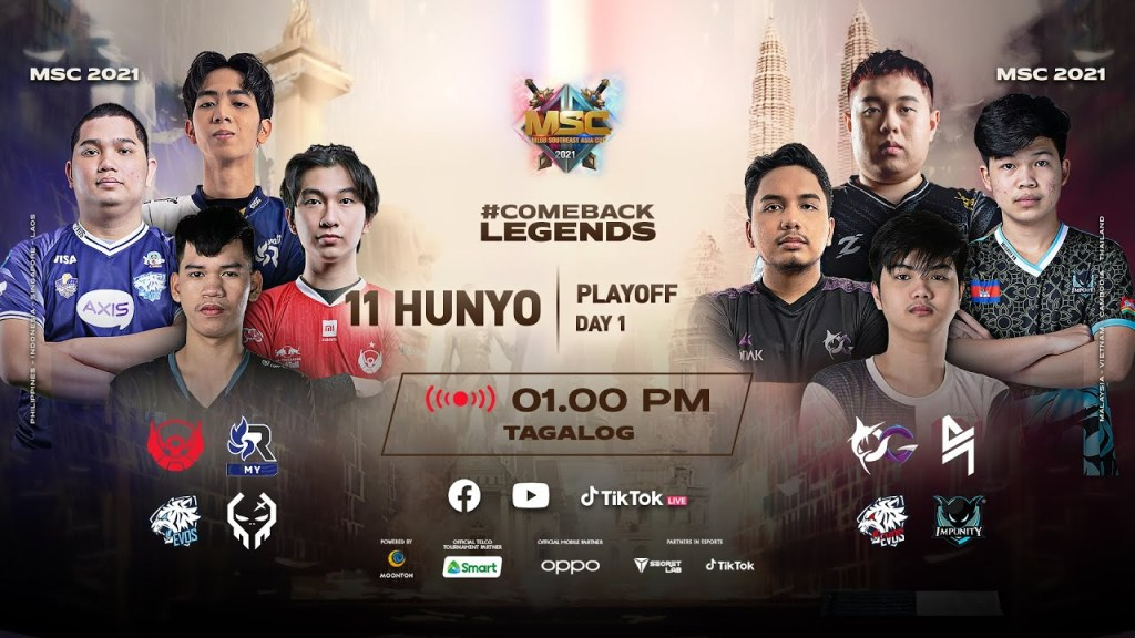 [Tagalog] MSC Playoff Day 1 | MLBB Southeast Asia Cup 2021