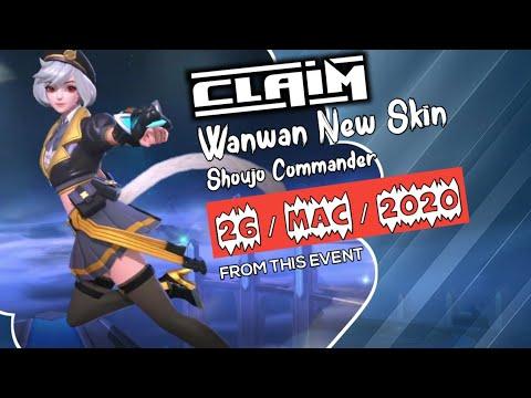 New Event - Wanwan New Skin Shoujo Commander | GIVEAWAY SKIN MOBILE LEGENDS