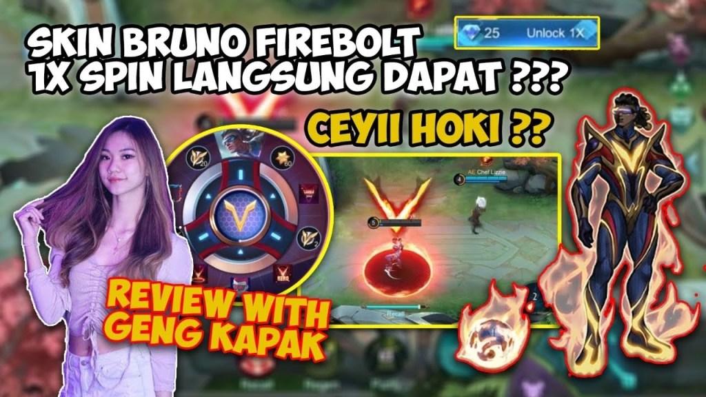 SKIN BRUNO FIREBOLT 1X SPIN LANGSUNG DAPET?? W/ OURA & MARSHA