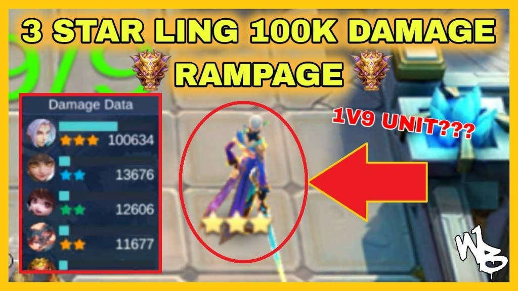 3-STAR LING RAMPAGE - 100K DAMAGE  - BEST MAGIC CHESS SYNERGY - Mobile Legends Bang Bang