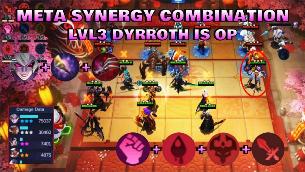 LVL3 DYRROTH IS OP - TOP GLOBAL MAGIC CHESS PLAYER | Mobile Legends Bang Bang