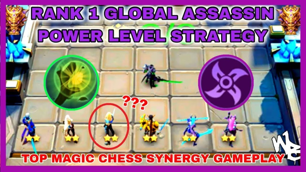 TOP GLOBAL ASSASSIN POWER LEVEL STRATEGY - BEST MAGIC CHESS SYNERGY - Mobile Legends Bang Bang