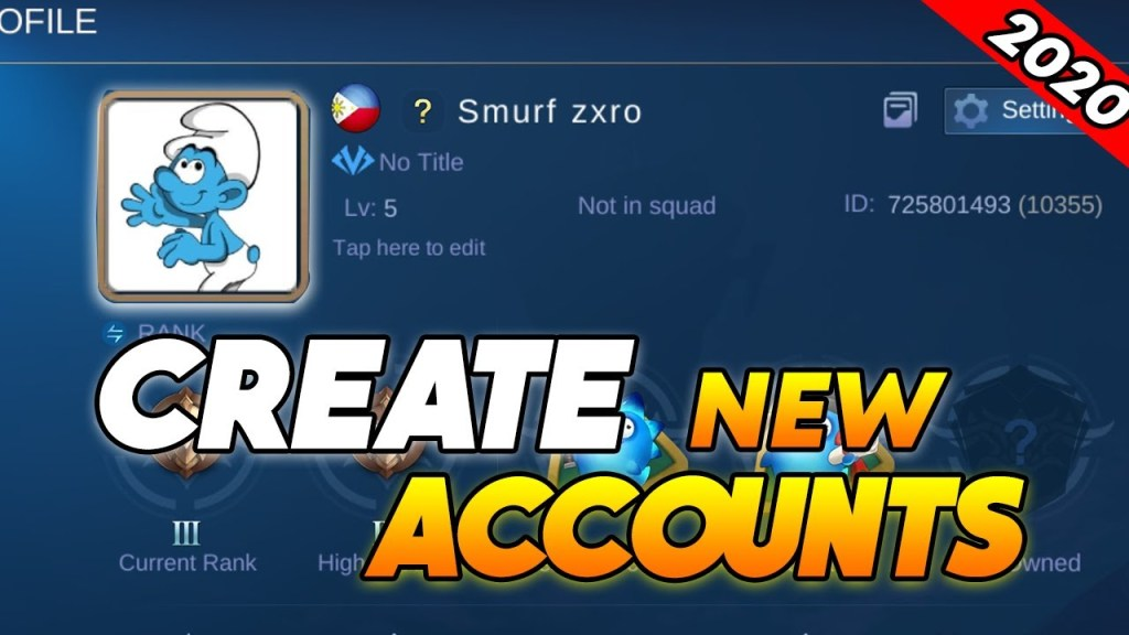 How To Create New/Smurf Accounts in Mobile Legends 2020 | Quick & Easy Tutorial