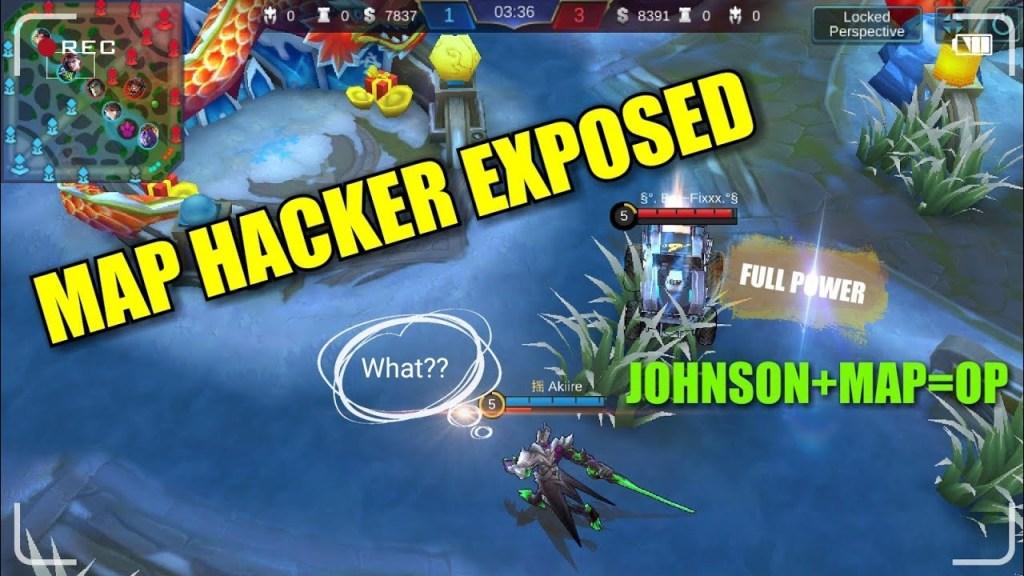 MAP HACK JOHNSON CAUGHT!!! UNFAIR CHEATER EXPOSED | Mobile Legends