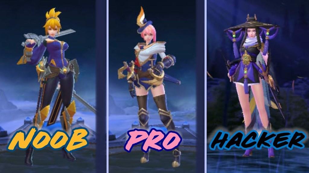 Noob vs Pro vs Hacker Mobile Legends Fanny