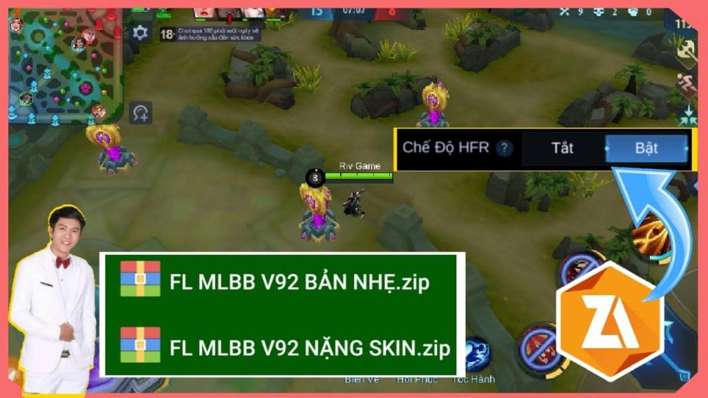 fix lag mobile legends bang bang mới nhất v92, hổ trợ cho cả máy yếu, giảm data và obb game tối đa..