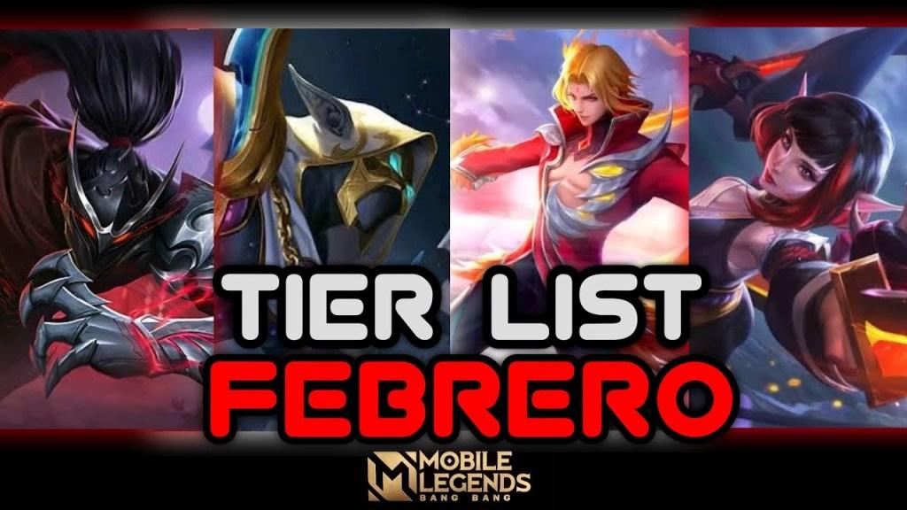 Cuales son los MEJORES HÉROES para USAR - Tier List Febrero - Mobile Legends - Leo