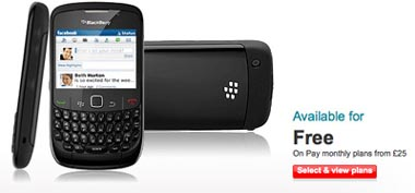 bbcurve Vodafone Selling BlackBerry Curve 8520 for Free