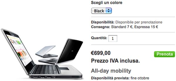 booklet   Nokia Italia Starts Selling Nokia Booklet 3G for 699 Euro