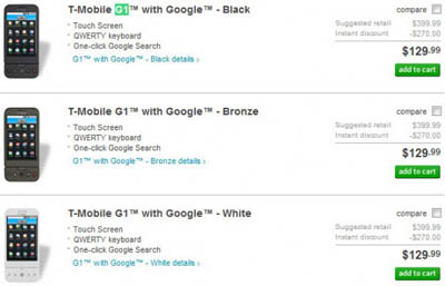 tmobile2 T-Mobile G1 Android Phone Just Got Cheaper