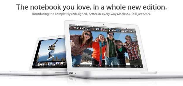 newmacbook New Apple MacBook (White) Offers Rubberized Unibody
