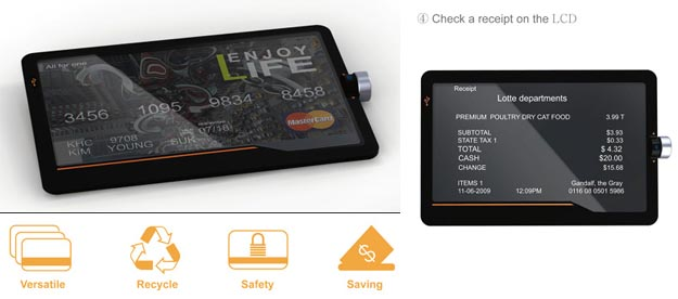 onecard Combining Every Credit Card into One Pocketable Device