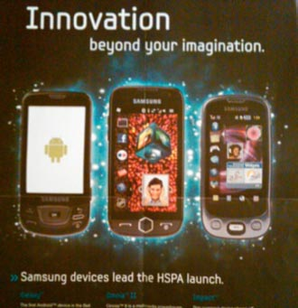bellandroid Samsung Galaxy with Android Heads to Bell Mobility