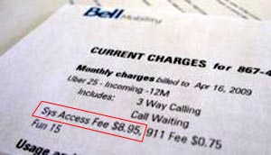 bellsaf  No More System Access Fee for Bell Too