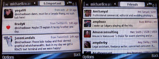 gravity-2 REVIEW - Gravity Twitter Client for Symbian S60 Smartphones