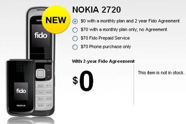 newfidonokia Fido Launches Nokia 2720 Flip Phone for Free