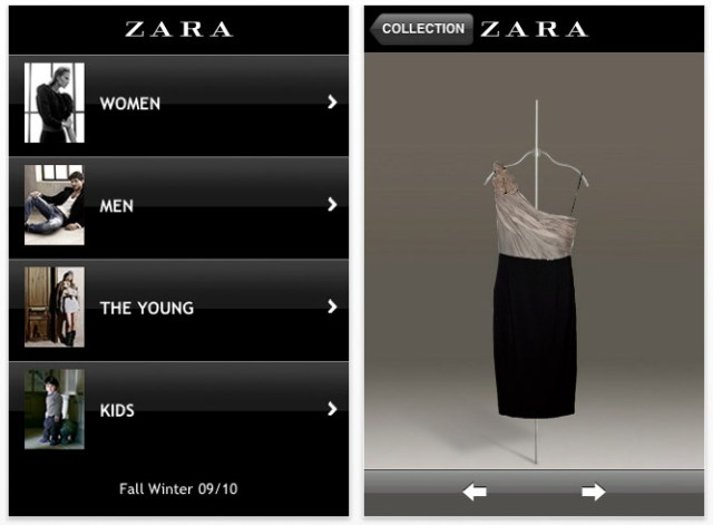 fashion-app-screenshot-zara iPhone turned fashion assistant, great apps for every style